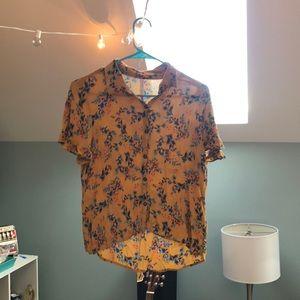Collared Yellow Shirt
